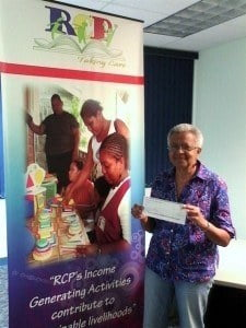 Monica Woodley delivers cheque to FDCC; the Foundation salutes each of its donors no matter the size of the donation and will continue to engage the support of the Caribbean diaspora communities across the world in giving Caribbean Children the foundation they deserve.