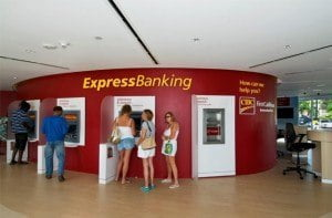The bank's Warrens branch boasts multiple ABMs as part of express banking for customer convenience.