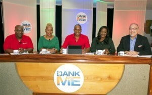"""This was the contestants' first time facing the """"Bank on ME"""" Season Two judging panel of dynamic and experienced businesspersons.  With two familiar faces from Season 1 - Shelly Williams, founder and owner of Platinum Services,  leaders in VIP airport services and the W Salons and Richard Haynes,  Marketing Executive, Co-Founder of Baje International and CEO of South Central Entertainment and Marketing, there were two new faces for Season 2 in Ryan Hunte, Business Banking Manager at Scotia Bank and Edward 'Eddy' Abed, Managing Director of Abed & Co. Ltd. and Senior Vice President of the Barbados Chamber of Commerce and Industry."""