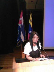 Luisa Zambrano regional member of the Solidarity Movement Venezuela Cuba