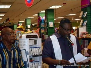 """Minister of Social Care, Constituency Empowerment and Community Development, Steve Blackett, while speaking at the launch last Saturday at Cave Shepherd, noted that the book represented """"a stellar contribution to Barbadian literature""""."""