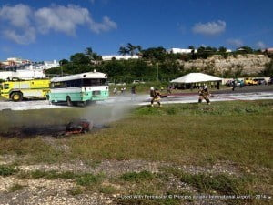 Team of firefighters in action