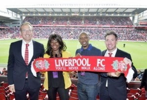 ALTOGETHER NOW: BTMI & Liverpool officials at Anfield