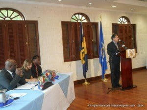 """The High Commissioner of Canada to Barbados and the OCES, Richard Hanley, stated how his country is pleased to fund this project given that DTCs help to provide an alternative to incarceration for drug-dependent abusers, and also to reduce crime, recidivism and overpopulation in prisons which is one of the biggest problems in Barbados. """"It is not only a public health issue, but also a criminal justice one."""""""