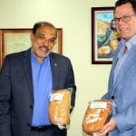 Dr. Deep Ford of FAO left and Dr. Warren Smith of CDB right