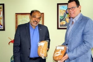 Dr. Deep Ford of FAO (left) and Dr. Warren Smith of CDB (right)