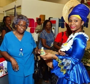 On the day dubbed 'Too Sweet Tuesday', customers in the branches received packages of Bajan goodies - blue and yellow sugar cakes, molasses treats and nutcakes. The customer celebration had an extra twist of Barbadiana as colourfully dressed Bajan folk characters, including the familiar mauby seller distributed the sweet treats.