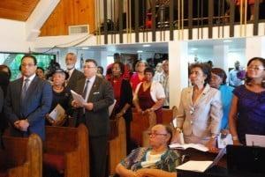 PremierMcLaughlin McKeevaBush in congregation