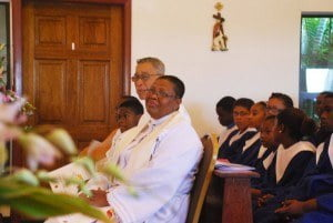 Rev Mary listens attentively