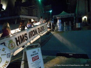 HMS IRON DUKE gangplank