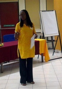 Country-lead, Dr. Paulette Griffiths, facilitated the session for designing a VOPE relevant to the context of Jamaica.