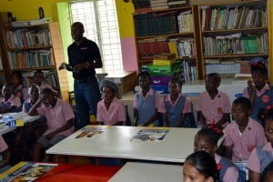 That was the warning to the class 3 students at Welches Primary School received today from the principals of the Caribbean Cyber Security Centre (CCSC) with their Think Click Surf programme, sponsored by FLOW. The aim of Think Click Surf is to help children of all ages, parents and teachers to identify online danger and how to handle the threat.