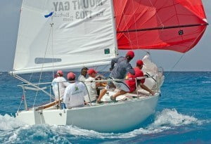 One of the big attractions for teams such as the British VO70 Monster Project are the record-breaking opportunities in the 60 nautical mile Mount Gay Round Barbados Race on Wednesday 21 January. There are currently 14 established records in this race, all of which offer the skipper's weight in Mount Gay Extra Old Rum if broken. (Courtesy; Peter Marshall/MGRBR)