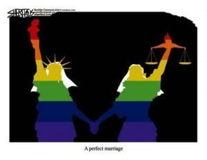(IMAGE VIA - atbreak.com) The UK Consulate is considered UK territory and the Dominican government respects its right to hold the ceremony under the Vienna Convention now that the British government recognizes same-sex marriages.