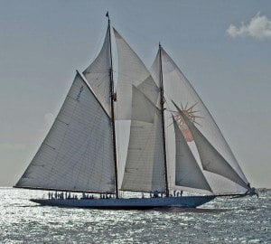 One of the most graceful yachts on the start line will be the 55m classic racing schooner - Elena of London- skippered by Steve McLaren and his 18-strong team. Elena is the current Classic division record-holder with a time of 6 hours, 11 minutes, 19 seconds set in 2011.