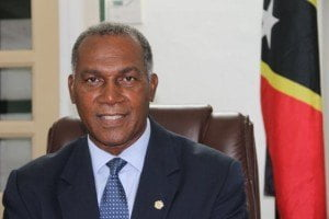 Premier of Nevis Hon. Vance Amory at his Bath Plain Office on February 12, 2015