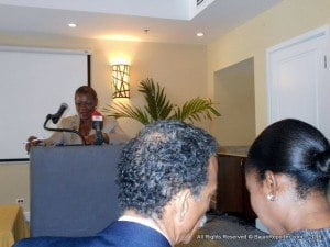 """Agreeing with the Parliamentary Secretary, Dr. Denny stated there were a number of reasons why school location planning was critical in Barbados, at this time. """"People are moving away from certain areas; they are moving into other areas; there is a decrease in the birth rate...leading to falling enrolment, and many of our schools are not now as full as they used to be. In fact, there is a lot of capacity available in some of our schools,"""" she observed."""