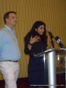 Co-Founders of Caribbean Music ummit 2015; Mark Frieser and Farinoush Mostaghimi