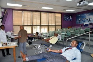 Among the staff members who took part in the initiative to support the blood bank, included ICBL's Vice President and Head of their Life division, Henry Inniss.