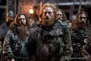 Produced by Launch Point Records, the 15-song mixtape features diverse artists representing different families from Game of Thrones, leveraging the show's themes and even sampling music from season four to showcase the importance of music in the series. (Kristofer Hivju as Tormund Giantsbane– photo Helen Sloan/HBO)