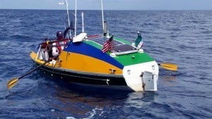 Mooney was robbed off the coast Haiti, after successfully rowing across the Atlantic Ocean in honor of his brother who died of AIDS and to encourage voluntary HIV testing. Mooney departed from Las Palmas, Gran Canaria and made stops in St. Martin, British Virgin Islands, Puerto Rico and Dominican Republic.