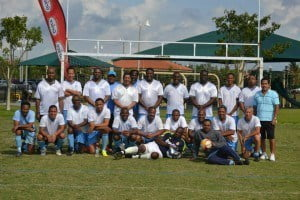 St. George's College Over-40 team