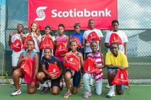 Regional Under 14 competitors for Scotiabank Junior Tennis Tournament 2015 at the Tennis Center