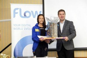 Managing Director Niall Sheehy presenting to Overall Champion Amber McKenzie