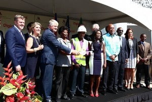 Haiti President, Michel Martelly and former U.S. President, Bill Clinton, join Digicel Group Founder and Chairman, Denis O'Brien and officials from Marriott International to open the Marriott Port-au-Prince Hotel