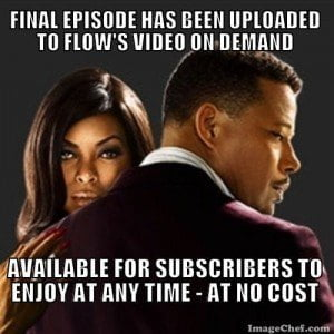(CLICK FOR BIGGER) Service is now restored to video customers who may have been affected by the earlier interruption, which occurred during some of your favourite programs, including the season finale of 'Empire'.