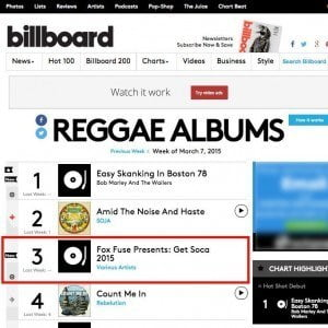 The Billboard charting is tallied from cumulative sales of the album, as recorded by Nielsen SoundScan, the largest monitor of commercial music sales in North America. The compilation also peaked at #3 on the iTunes U.S. Reggae Top Albums chart, #3 on the iTunes Canada World/Reggae Top Albums chart, and #10 on the iTunes U.K. Reggae Top Albums chart.