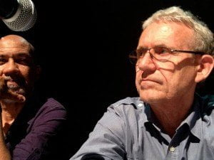 Bruce Paddington (right), Director of Forward Ever: The Killing of a Revolution.
