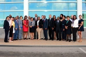 Visiting MPs with SXM officials: A group photo of the visiting MPs with SXM Airport's top officials. (SXM photo)