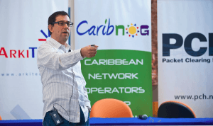 Google IT Expert, Arturo Servin speaks at recent CaribNOG event in Trinidad. Courtesy: Caribbean Network Operators Group