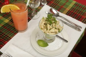 A St. Martin favorite, conch appetizer, in new printing of Yvette's cookbook. (HNP photo)