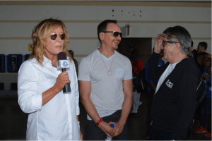 Effervescent CHUM 104.5 FM talk show hosts, Marilyn, Darren and Roger, on arrival at Grantley Adams International Airport for the 2015 edition of the CHUM FM Breakfast in Barbados promotion.