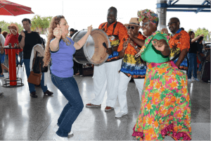 Mother Sally was a hit with the 300 plus CHUM FM Breakfast in Barbados winners who began arriving in Barbados on Saturday for the 30th edition of this BTMI initiative.