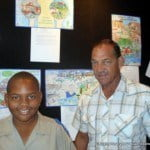 Christopher Marshall and one of his winning posters with his very proud father