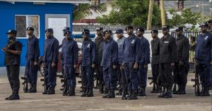 Kittitian Police Training Drill