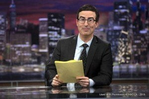 John Oliver is a UK transplant who has a habit of examining what people said early in their career and compare it to how they behave now, probably not the sort of thing Aaron Kamigusha watches?