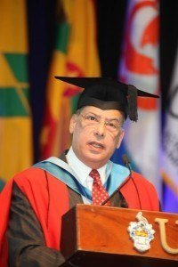(FILE IMAGE) Sir Ronald now has the distinction of concurrently being a Senior Fellow at two Universities in different Commonwealth countries. Guyana-born Sanders is also a Senior Fellow at the Institute of Commonwealth Studies at the University of London, England.