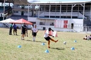 The national team's scouts came out to see the talented footballers from the Digicel Kickstart Clinics