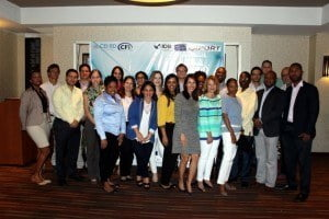 """The sessions brought together 21 representatives from CFI and CEI-RD, as well as representatives from the Ministry of Economy in Haiti. Additionally, extra-regional investment promotion agencies (IPAs) such as ProMexico and Brasilian Agency of Export and Investment Promotion (ApexBrasil) shared their experiences in the implementation of their CRM systems with the participants. They were also introduced to a new CRM system """"IPADesk"""" by a private firm E-Source Capital Technology."""
