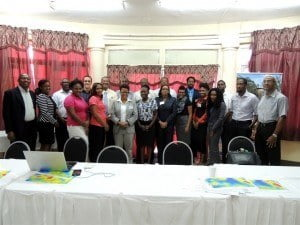 As part of the meeting, representatives from the Jamaica Meteorological Service, the Barbados Water Authority, the Barbados Coastal Zone Management Unit, and the Barbados Ministry of Agriculture demonstrated the development and use of sector specific climate products and services at the national level.
