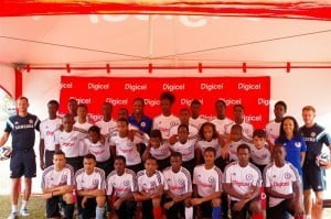 Some of the best footballing talent in Trinidad and Tobago participated in the Digicel Kickstart Clinics hosted by Chelsea FC Foundation coaches
