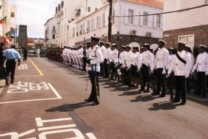 Guard of Honour outside of Government Headquarters