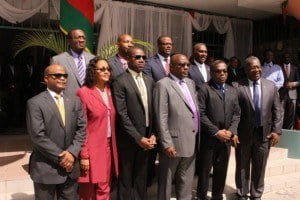 Members of Parliament at St Kitts' ceremonial opening of their National Assembly 2015.