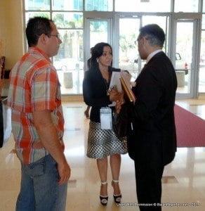 Minister Bharath in conversation with Her Excellency Coromoto Godoy, Ambassador of Venezuela