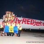 RedJet Plane arrival