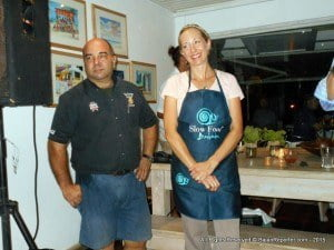 Speightstown's Orange Street Grocer proprietor Nick Vieira (left) and Chef Julie Frans of Miami - CLICK FOR BIGGER